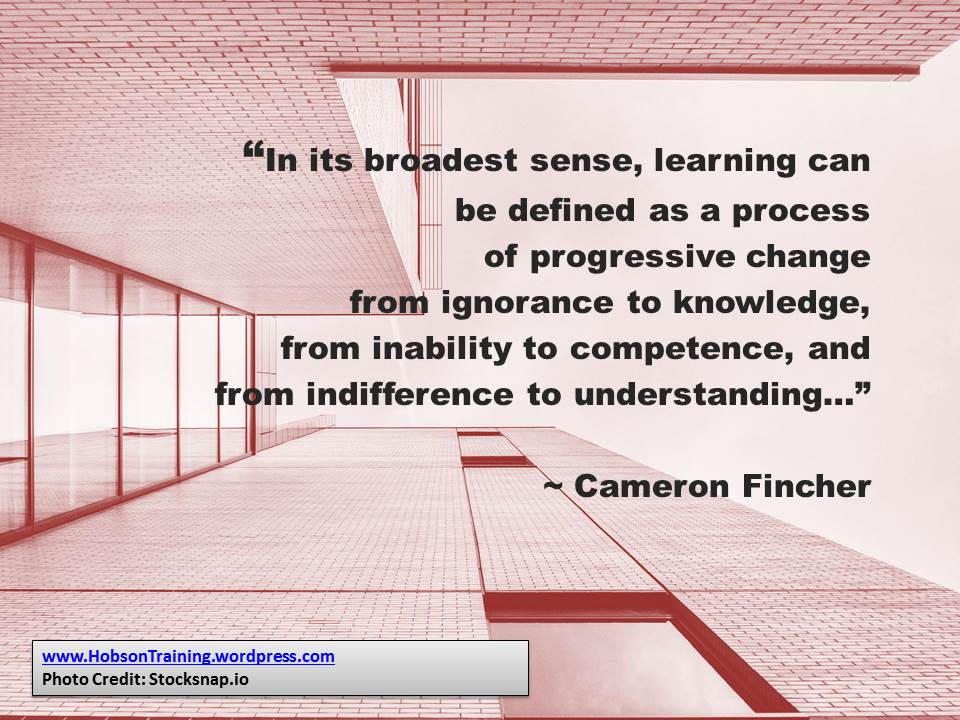 quote htd - learning as a process of change