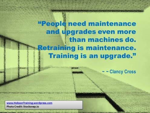quote htd - people need maintenance