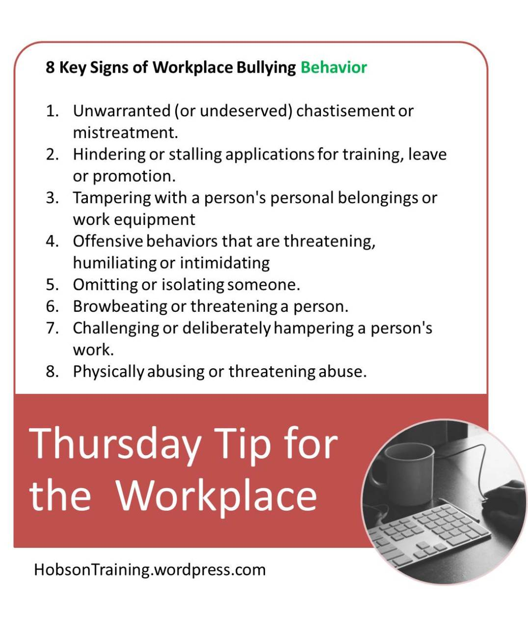 BPost - Thursday Tip 07-16-15 Bullying