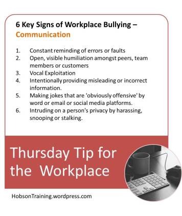 BPost - Thursday Tip 08-13-15 Bullying