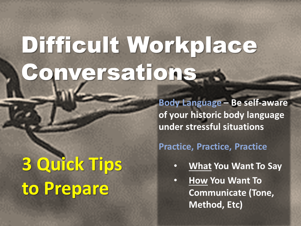 3 Tips to Prepare for Difficult Workplace Conversations