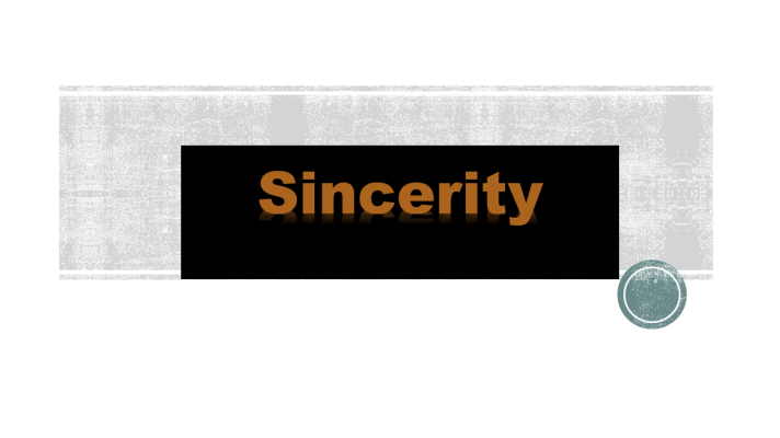 image - Sincerity