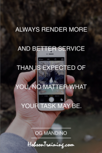 quote - give better service - Inspirational Image 0555