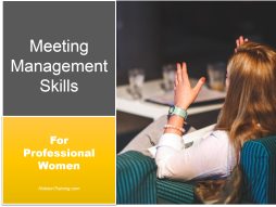 Course: Meeting Management Skills for Professional Women