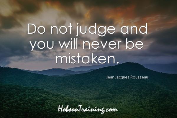 inspiration 2017 - Do Not Judge