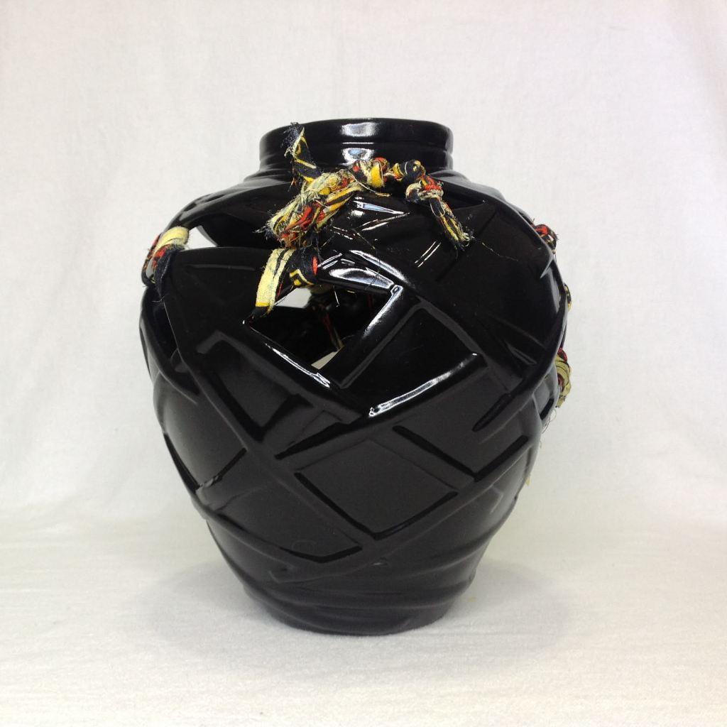 Afrocentric Round Display Vase